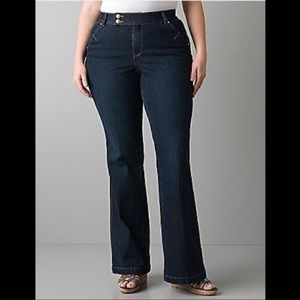 Lane Bryant flare Tighter Tummy Technology Jeans